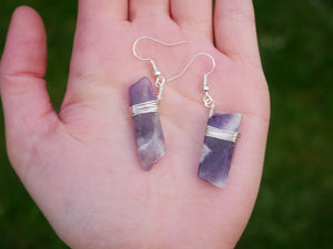 Purple Amethyst Earrings - Wandering Soul Jewellery