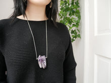 Load image into Gallery viewer, Purple Amethyst Points Necklace - Wandering Soul Jewellery