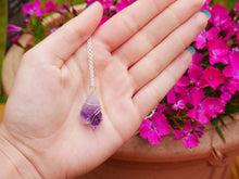 Load image into Gallery viewer, Dainty Purple Amethyst Necklace - Wandering Soul Jewellery
