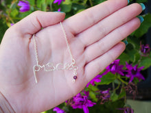 Load image into Gallery viewer, Pisces Necklace with Amethyst Swarovski Crystal - Wandering Soul Jewellery