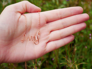 Personalized Wire Necklace - Wandering Soul Jewellery