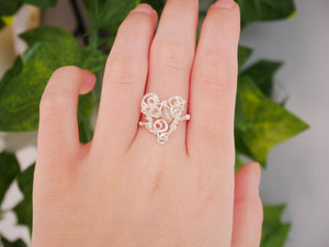 Rose Quartz Heart Ring - Wandering Soul Jewellery
