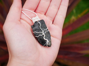 Black Tourmaline Tree Of Life Necklace - Wandering Soul Jewellery