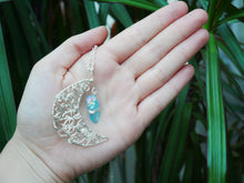 Load image into Gallery viewer, Blue Lemurian Seed Twisty Necklace - Wandering Soul Jewellery