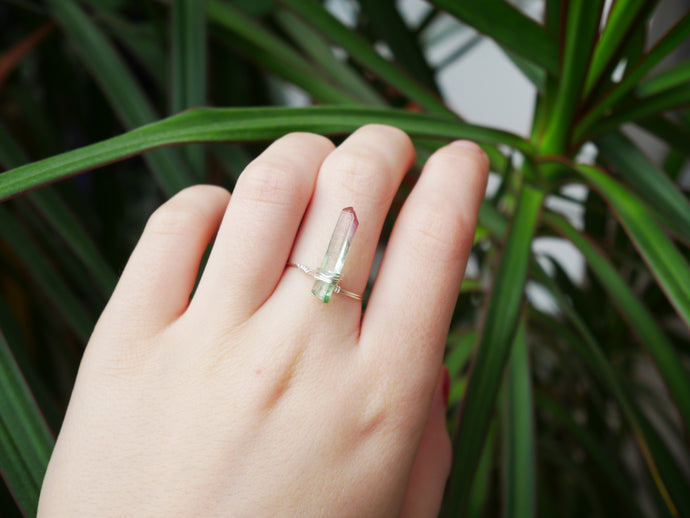 Watermelon Tourmaline Ring - Wandering Soul Jewellery