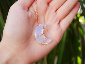 Opal Luna Necklace - Wandering Soul Jewellery