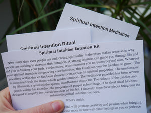 Spiritual Intuition Intention Kit - Wandering Soul Jewellery