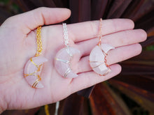 Load image into Gallery viewer, Rose Quartz Luna Necklace - Wandering Soul Jewellery
