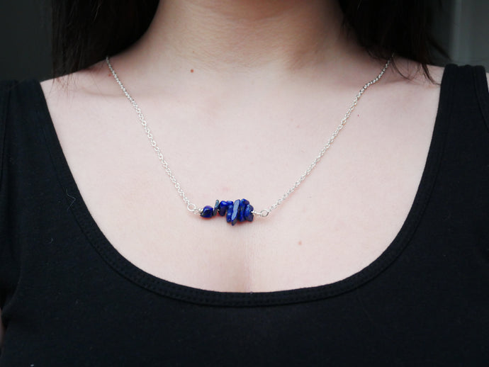Lapis Lazuli Chip Necklace - Wandering Soul Jewellery