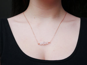Rose Quartz Chip Necklace - Wandering Soul Jewellery