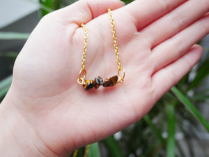 Tigers Eye Chip Necklace - Wandering Soul Jewellery