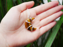 Load image into Gallery viewer, Tigers Eye Luna Necklace - Wandering Soul Jewellery