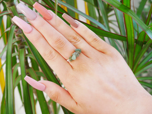 Green Adventurine Chip Ring - Wandering Soul Jewellery