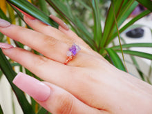 Load image into Gallery viewer, Amethyst Chip Ring - Wandering Soul Jewellery