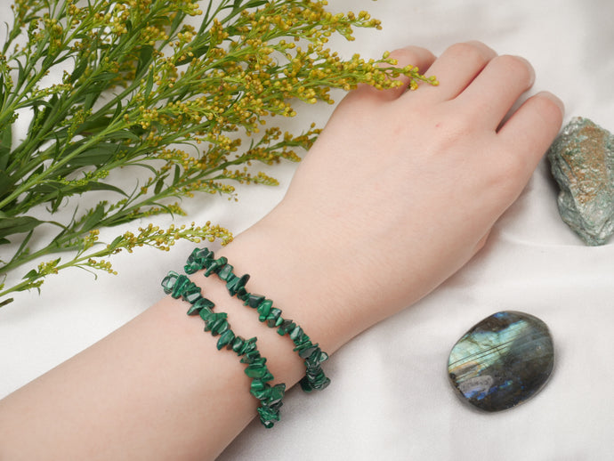 Green Malachite Chip Bracelet - Wandering Soul Jewellery