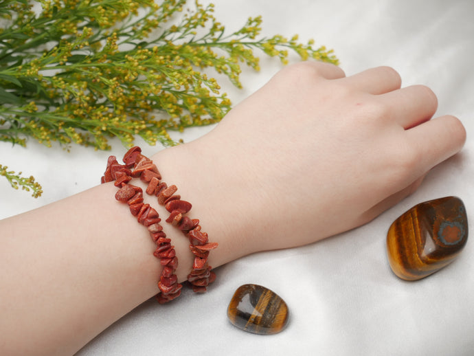 Red Goldstone Chip Bracelet - Wandering Soul Jewellery
