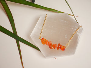 Carnelian Chip Necklace - Wandering Soul Jewellery