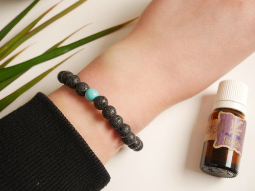 Turquoise Lava Essential Oil Diffuser Bracelet - Wandering Soul Jewellery