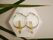 Load image into Gallery viewer, Yellow Lemurian Seed Hoops - Wandering Soul Jewellery