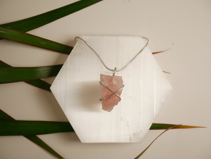 Rose Quartz Necklace - Wandering Soul Jewellery