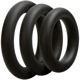 OPTIMALE • 3 C-Ring Set Thick - Black - Condom-USA  - 3