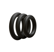 OPTIMALE • 3 C-Ring Set Thick - Black - Condom-USA  - 1