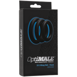 OPTIMALE • 3 C-Ring Set Thick - Black - Condom-USA  - 2