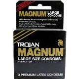 Trojan Magnum Large Lubricated Latex Condoms - 3pk - Condom-USA
