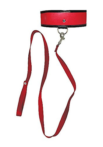 Sex And Mischief Leash & Collar - Red