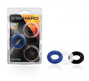 Blush Stay Hard Donut Rings - Over sized- Pack of 3