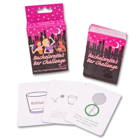 BACHELORETTE CHALLENGE BAR CARD GAME - Condom-USA