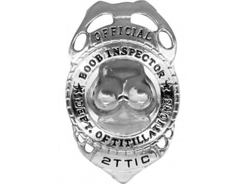 Boob  Inspector Badge - Condom-USA  - 1