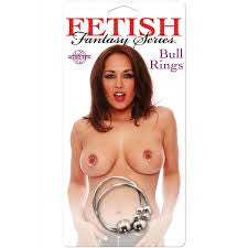 Fetish Fantasy Nipple Bull Rings in Silver