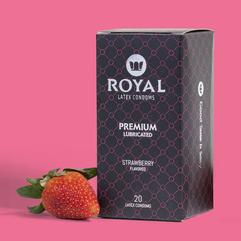 Royal Strawberry Condoms -20pk