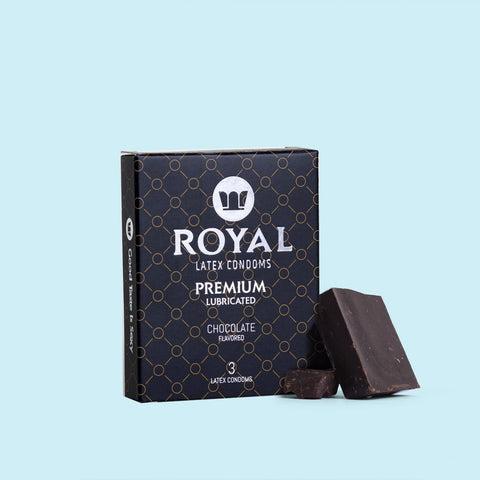 Royal Chocolate  Condoms - 3pk