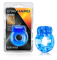 REUSABLE VIBRATING COCKRING - BLUE