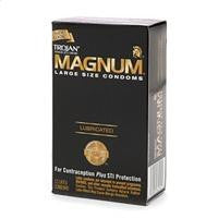 Trojan Magnum Large Size Lubricated Latex Condoms 12-pack - Condom-USA