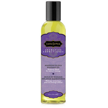 Aromatic Massage Oil - Harmony Blend-8oz - Condom-USA  - 1