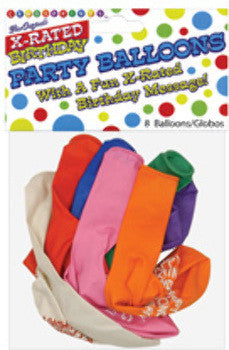 "11"" Happy Fucking Birthday Balloons - Bag of 8 - Condom-USA"