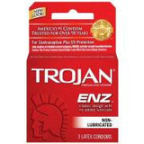 Trojan ENZ Non-Lubricated Latex Condoms - Condom-USA
