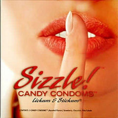 Sizzle Candy Condoms Edible 3 Pack - Condom-USA