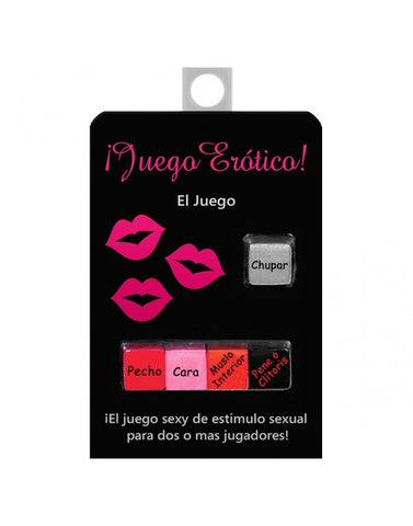 Juego Erotico Dice (Let's Fool Around Dice in Spanish - Condom-USA