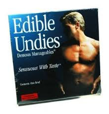 Male Edible Undies Strawberry Chocolate - Condom-USA