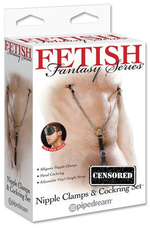 Fetish Fantasy Series Nipple Clamps and Cockring Set - Condom-USA