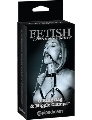 Fetish Fantasy Series Limited Edition O-Ring Gag & Nipple Clamps - Condom-USA