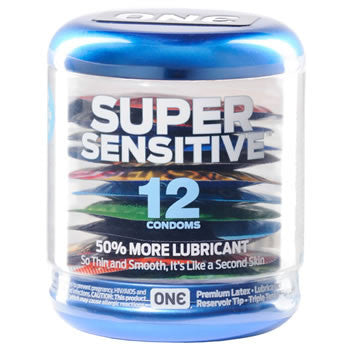 ONE  SUPER SENSITIVE™ 12-PACK - Condom-USA  - 1