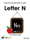 Preschool Learning Letter By Letter Activity Books