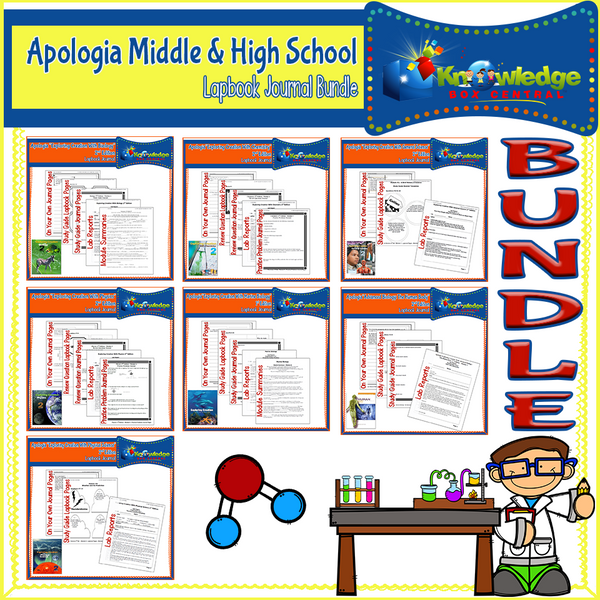 Apologia Middle & High School Lapbook Journal BUNDLE