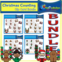Christmas Counting Clip Card BUNDLE