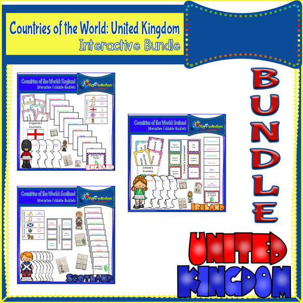 Countries of the World: United Kingdom Interactive Foldable Booklets BUNDLE